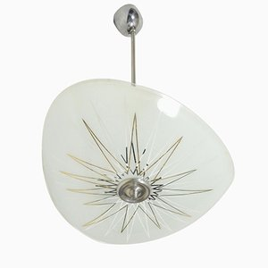 Printed Ceiling Lamp from Napako, 1960s