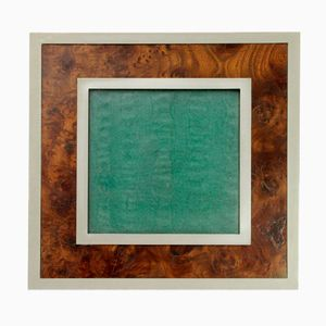 Italian Pewter & Briar Photo Frame by Richard Ginori, 1940s