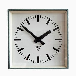 Industrial Clock from Pragotron, 1970s