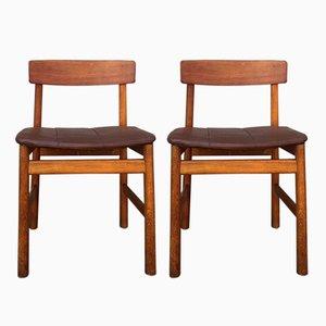 Chaise d'Appoint BM 236 en Chêne par Børge Mogensen, 1950s, Set de 2