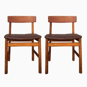 Oak BM 236 Side Chairs by Børge Mogensen, 1950s, Set of 2