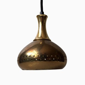 Mid-Century Brass Pendant Lamp by Hans-Agne Jakobsson for Markaryd AB