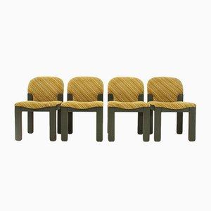 Easy Esszimmerstühle von Ernesto Radaelli für Saporiti, 1980er, 4er Set