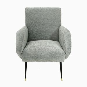 Italian Grey Armchair, 1950s