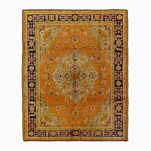Rechteckiger türkischer Vintage Ushak Teppich