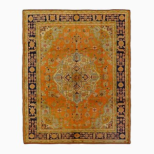 Vintage Turkish Ushak Rectangular Rug