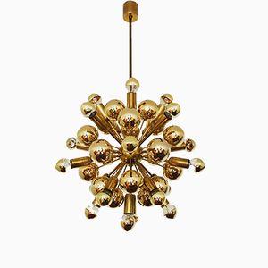 Golden Sputnik Chandelier from Cosack, 1970s