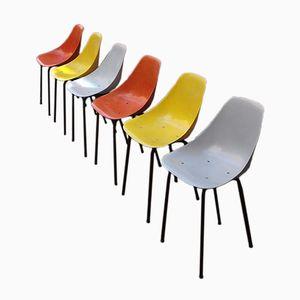 Fiberglass Anemone Chairs from Merat, 1950s, Set of 6