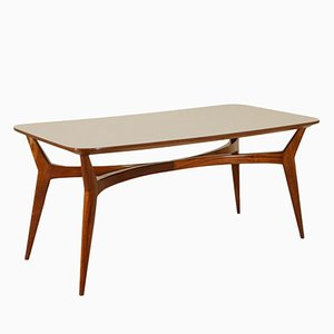 Italian Beech-Stained Formica Table, 1950s