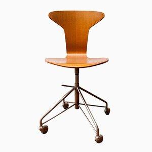 Chaise Pivotant Hammer Modèle 3103 par Arne Jacobsen pour Fritz Hansen, 1950s