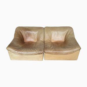 Mid-Century DS 46 Leder 2-Sitzer Sofa von de Sede