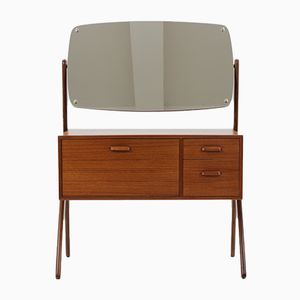 Danish Teak Dressing Table with Mirror, 1960s