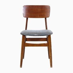Vintage Teak Stackable Chair, 1960s