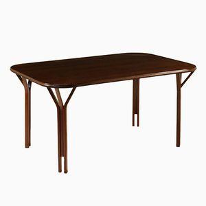 Italian Beech & Mahogany Dining Table by Giotto Stoppino, Lodovico Meneghetti & Vittorio Gregotti for Sim, 1960s