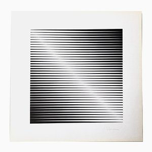 Sérigraphie Édition 230 par Getulio Alviani pour Panderma Editions, 1977