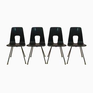 Modell Ein Punkt Chairs von Hans Bellmann für Horgenglarus, 1951, 4er Set