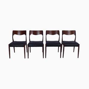 Dänische Vintage Esszimmerstühle von N. O. Møller für J. L. Møllers, 4er Set