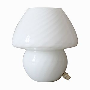 Space Age Opaline Glass Mushroom Lamp, 1970s