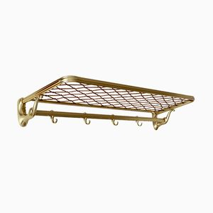 Mid-Century Brass-Colored Coat Rack