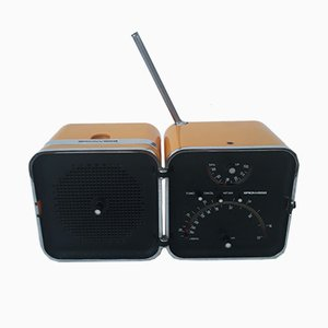 Radio cubica TS502 di Marco Zanuso & Richard Sapper per Brionvega, 1964