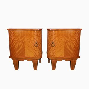Art Deco Lemon Tree & Brass Cabinets, Set of 2