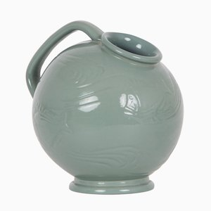 Vintage Green Ceramic Jug by Ipsens Enke
