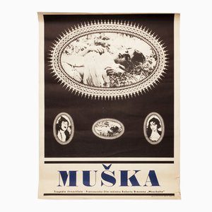 Mouchette Movie Poster by Karel Machálek, 1968