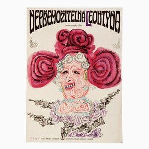 Affiche de Film Leontine par Karel Teissig, 1969