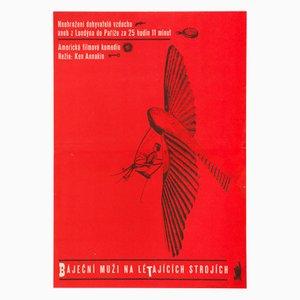 Affiche de Film Those Magnificent Men in Their Flying Machines par Karel Vaca, 1966