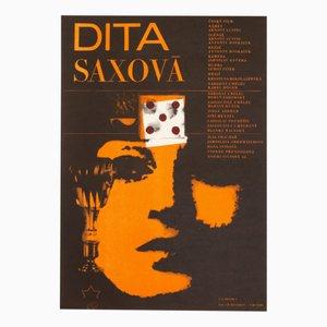Affiche de Film Dita Saxová par Zdeněk Ziegler, 1967