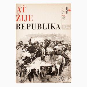 Affiche de Film Long Live the Republic par Zdeněk Ziegler, 1965