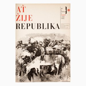 Long Live the Republic Movie Poster by Zdeněk Ziegler, 1965
