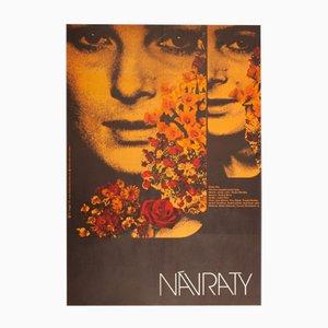 Returns Movie Poster by Zdeněk Ziegler, 1972