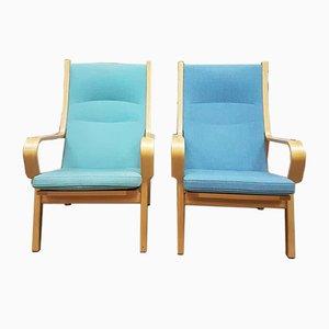 Dänische vintage Sessel von Hans J. Wegner, 1950er, 2er Set