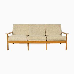 Skandinavisches Eiche Sofa, 1960er