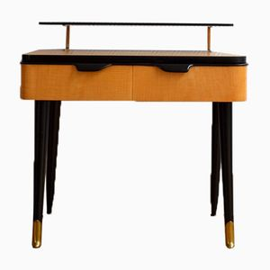 Vintage Nachttisch mit Kompass Füßen