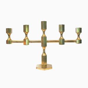 Mid-Century Brass Candleholder from Gusum Metall Slöjd