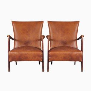 Mid-Century Italian Modern Lounge Chairs, 1950s, Set of 2