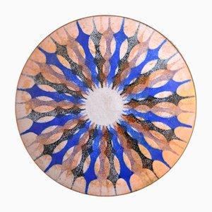 Enamel Wall Plate by Mararethe Ernst, 1960s