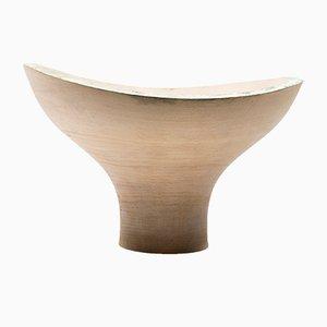 Centre de Table Fungo Blanc en Hêtre Tourné par Térence Coton pour Hands On Design