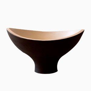 Centre de Table Fungo Noir en Hêtre Tourné par Térence Coton pour Hands On Design