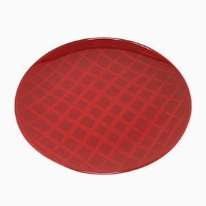 Network Red Teller aus lackiertem Urushi Glas von Eliana Lorena für Hands On Design