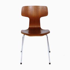 Sedie da pranzo nr. 3103 in teak di Arne Jacobsen per Fritz Hansen, anni '60