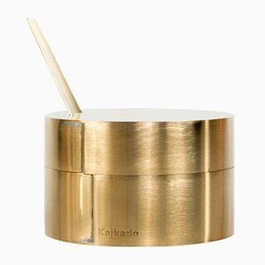 Flacher Zuk Zuckertopf aus Messing und Borosilikatglas von Shiina + Nardi Design für Hands On Design