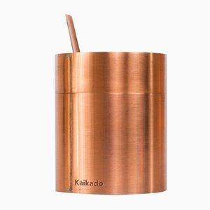 Tall Zuk Sugar Jar in Copper and Borosilicate Glass by Shiina + Nardi Design for Hands On Design