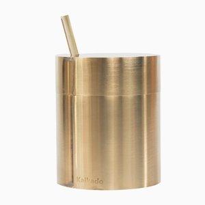 Tall Zuk Sugar Jar in Brass and Borosilicate Glass by Shiina + Nardi Design for Hands On Design