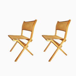 Italian Folding Chairs by Ilmari Tapiovaara for Olivo, 1981, Set of 2