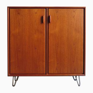 Teak Cabinet with Metal Feet, 1960s