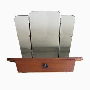 Miroir Pliable avec Étagère et Petit Compartiment de Rangement, 1950s