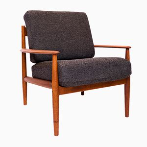 Mid-Century Danish Teak Lounge Chair by Grete Jalk for France & Søn, 1960s